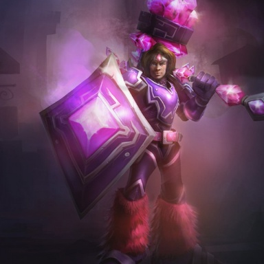 Pink taric cosplay